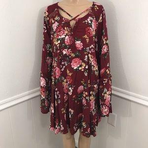 Umgee Floral Dress 2XL